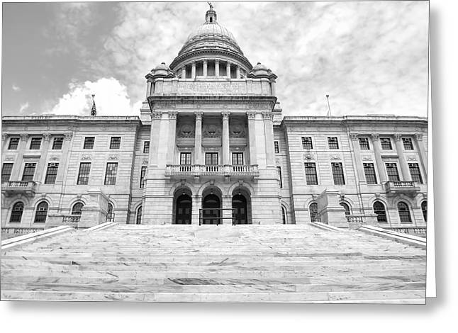 Historical Buildings Greeting Cards - Rhode Island State House Greeting Card by Lourry Legarde