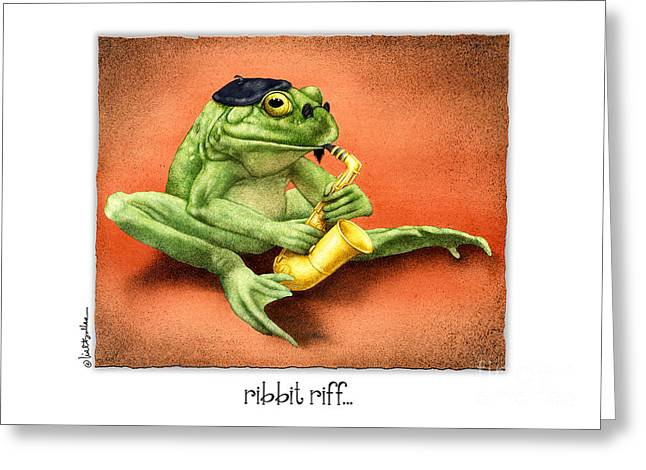 Bullis Greeting Cards - Ribbit Riff... Greeting Card by Will Bullas