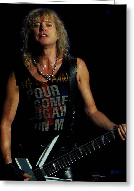 Def Leppard Greeting Cards - Ric Sav Savage Greeting Card by Luisa Gatti