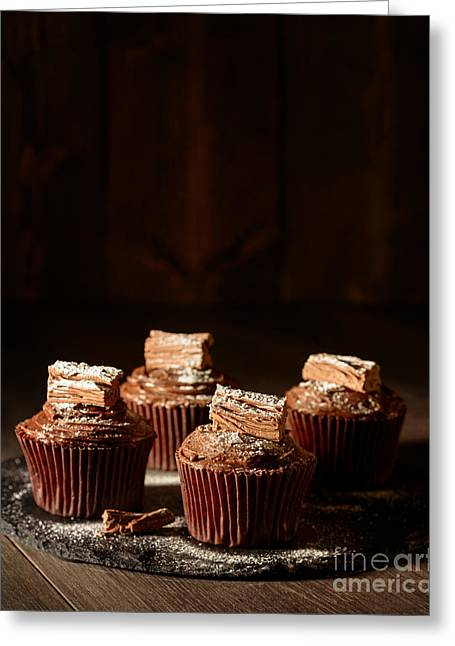Chocolate Cake Greeting Cards - Rich Chocolate Cakes Greeting Card by Amanda And Christopher Elwell
