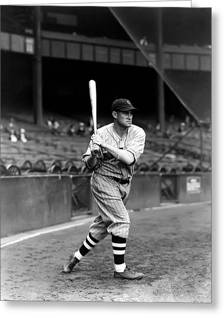 Baseball Bat Greeting Cards - Richard T. Dick Porter Greeting Card by Retro Images Archive
