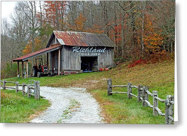 Richland Creek Greeting Cards - Richland Creek Farm Barn Greeting Card by Duane McCullough