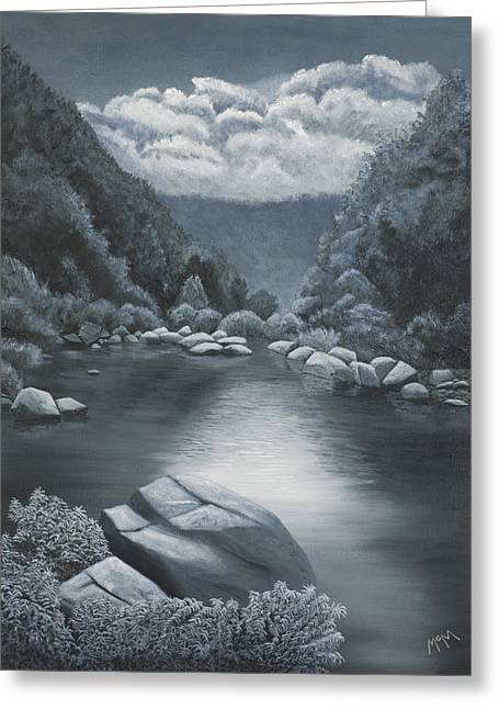 Arkansas Paintings Greeting Cards - Richland Creek  Greeting Card by Garry McMichael
