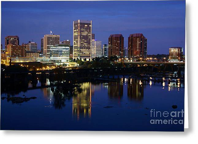 Recently Sold -  - Reserve Greeting Cards - Richmond Virginia Skyline Greeting Card by Bill Cobb