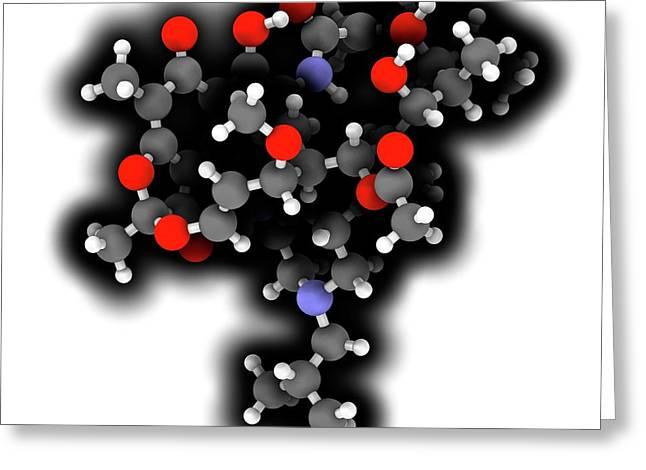 Rifabutin Tuberculosis Drug Molecule Greeting Card by Molekuul