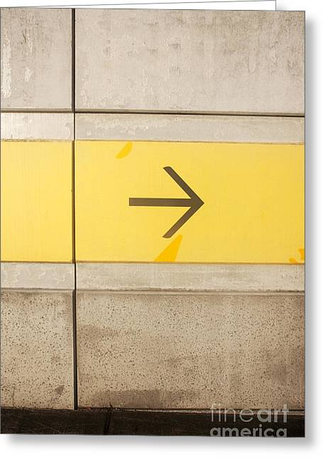 Directional Signage. Greeting Cards - Right Direction Wall Greeting Card by Ryan Jorgensen