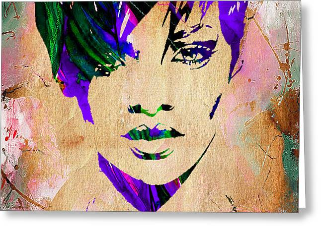 Celebrities Greeting Cards - Rihanna Collection Greeting Card by Marvin Blaine