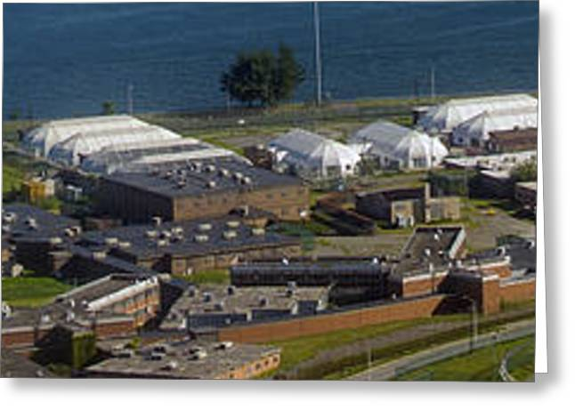 Rikers Island Greeting Cards - Rikers Island Jail in New York City Greeting Card by Performance  Impressions