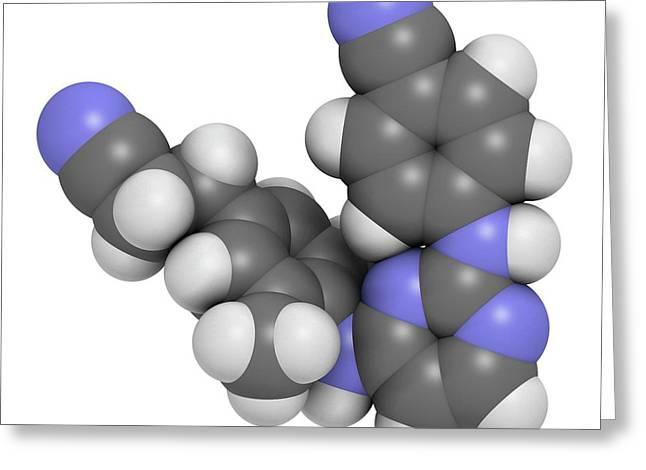 Rilpivirine Hiv Drug Molecule Greeting Card by Molekuul
