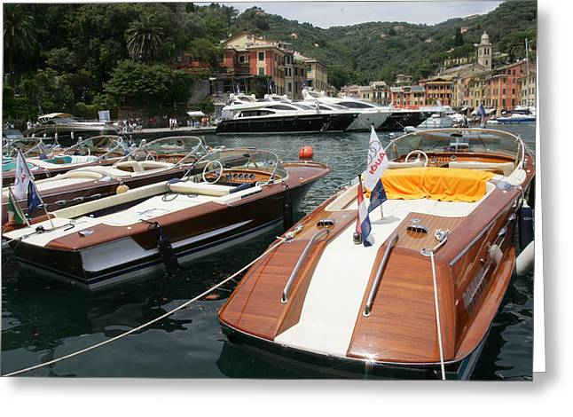 Portofino Italy Photographs Greeting Cards - Riva Portofino Greeting Card by Steven Lapkin