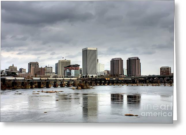 River City On The James Greeting Card by Tim Wilson