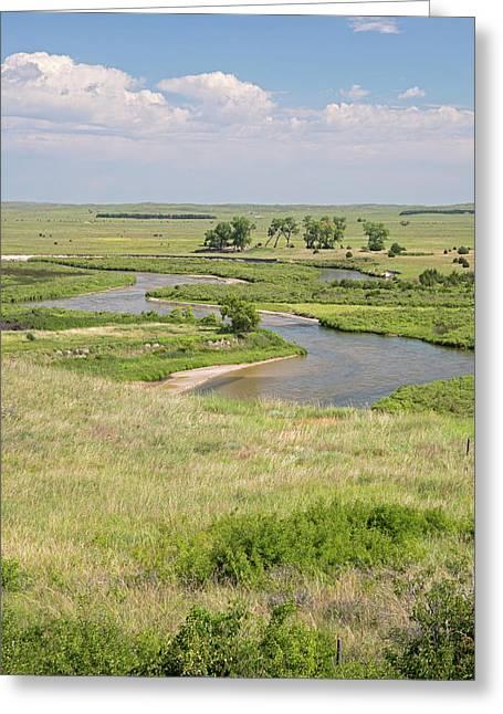 River In The Nebraska Sandhills Greeting Card by Jim West