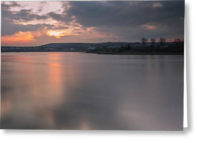 River Medway Greeting Cards - River Medway Sunset Greeting Card by Dawn OConnor