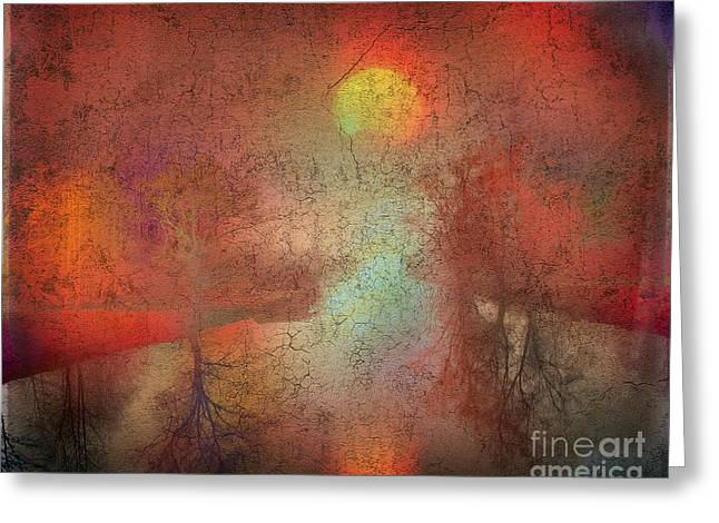Reflections Of Sun In Water Digital Greeting Cards - River of Light Greeting Card by Edmund Nagele