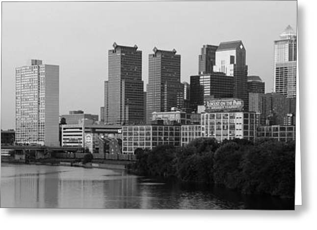 Schuylkill River Greeting Cards - River Passing Through A City Greeting Card by Panoramic Images