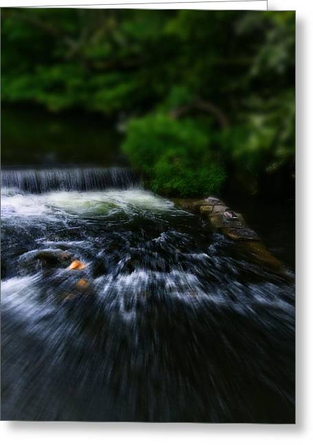 River Wye Waterfall - In Bakewell Peak District - England Greeting Card by Doc Braham