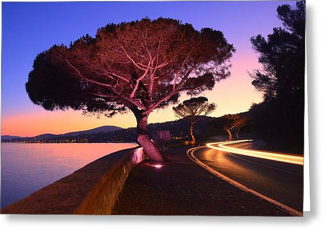 Azur Greeting Cards - Riviera Greeting Card by Christian Heeb
