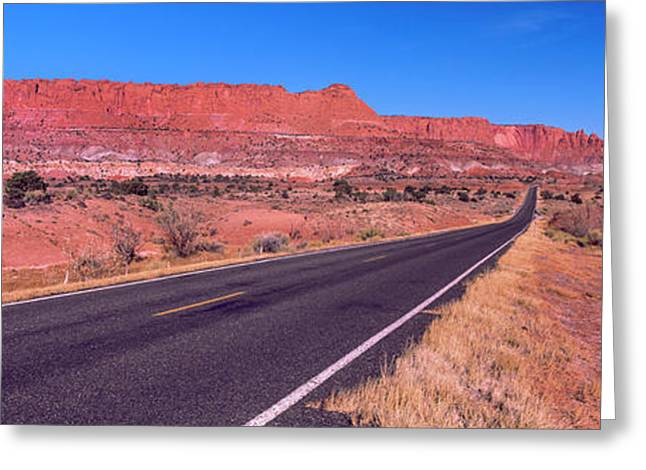 Road Passing Through Capitol Reef Greeting Card by Panoramic Images