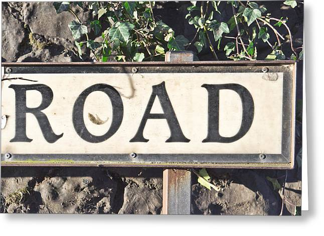 Tiled Greeting Cards - Road sign Greeting Card by Tom Gowanlock
