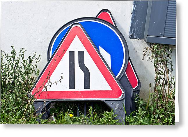 Regulations Greeting Cards - Road signs Greeting Card by Tom Gowanlock