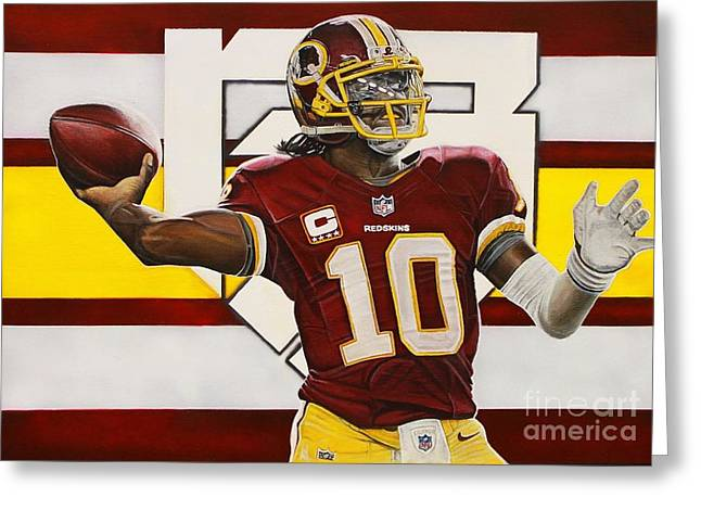 Robert Griffin IIi Greeting Card by Anthony Young