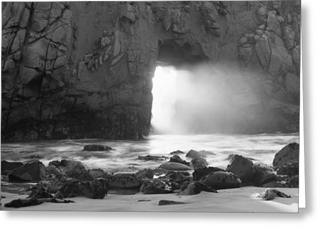 California Beach Greeting Cards - Rock Formation On The Beach, Pfeiffer Greeting Card by Panoramic Images