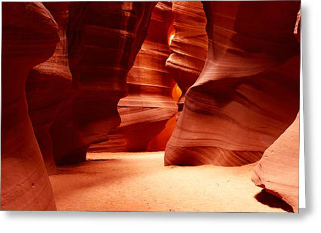 Lake Powell Greeting Cards - Rock Formations, Antelope Canyon, Lake Greeting Card by Panoramic Images