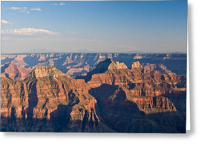North Rim Greeting Cards - Rock Formations At A Canyon, North Rim Greeting Card by Panoramic Images