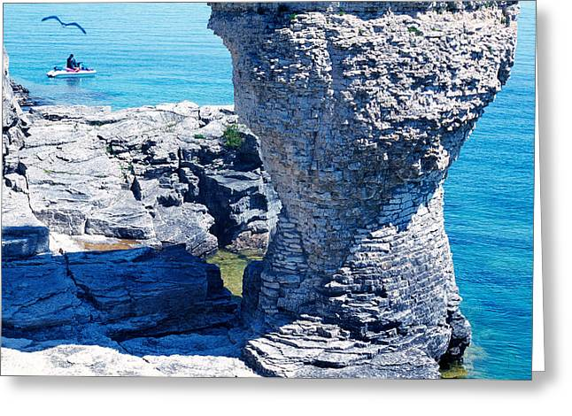 Geographical Locations Greeting Cards - Rock Formations, Bruce Peninsula Greeting Card by Panoramic Images