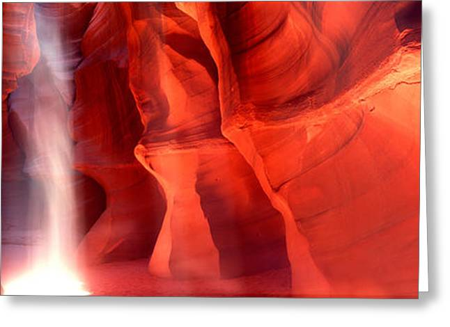 Navajo Tribal Park Greeting Cards - Rock Formations In A Canyon, Antelope Greeting Card by Panoramic Images