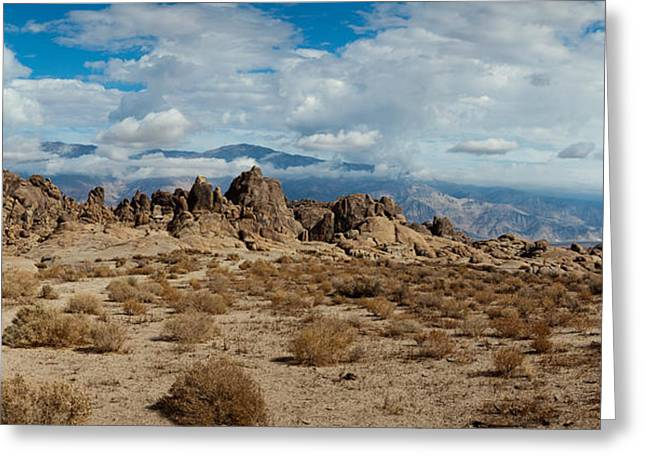Lone Pine Greeting Cards - Rock Formations In A Desert, Alabama Greeting Card by Panoramic Images