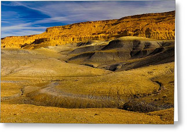Escalante National Monument Greeting Cards - Rock Formations In A Desert, Grand Greeting Card by Panoramic Images