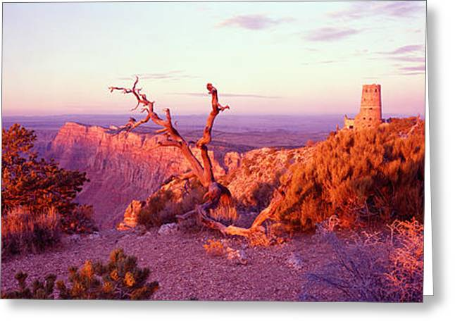 Clouds Over Canyon Greeting Cards - Rock Formations In A National Park Greeting Card by Panoramic Images