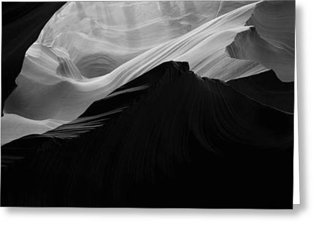 Antelope Canyon Greeting Cards - Rock Formations In A Slot Canyon Greeting Card by Panoramic Images
