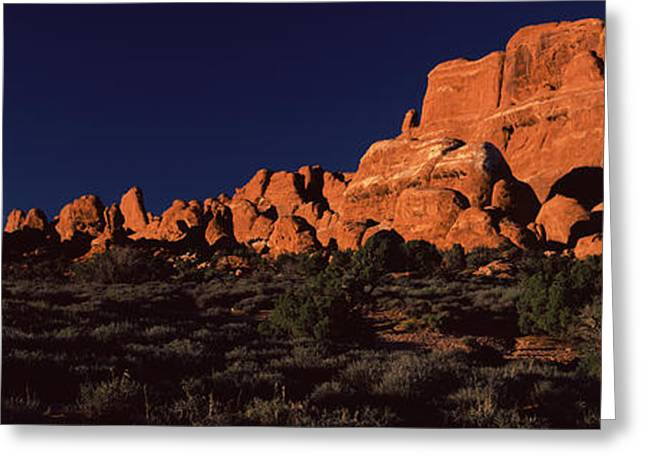 National Landmark Greeting Cards - Rock Formations On An Arid Landscape Greeting Card by Panoramic Images