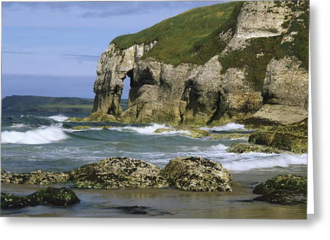Beach Photography Greeting Cards - Rock Formations On The Beach Greeting Card by Panoramic Images