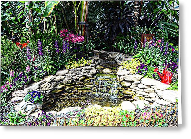 Tulip Tree Digital Art Greeting Cards - Rock Garden Greeting Card by Kathleen Struckle