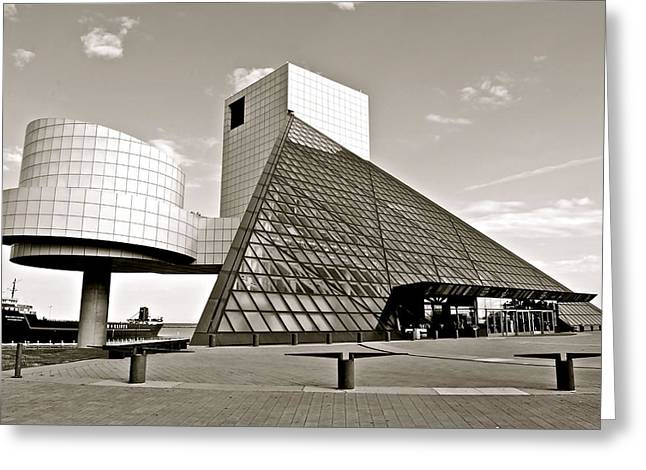 Rock Hall Of Fame Greeting Card by Frozen in Time Fine Art Photography