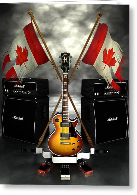 Frederico Borges Greeting Cards - Rock n Roll Crest - Canada Greeting Card by Frederico Borges