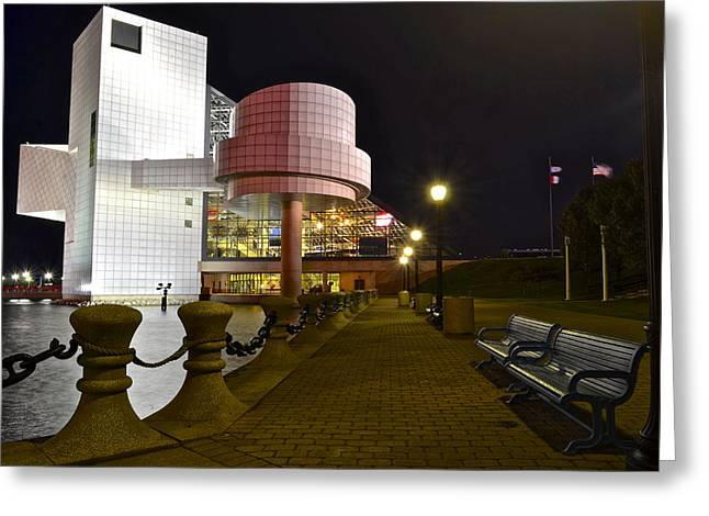 Rock n Roll Hall of Fame Greeting Card by Frozen in Time Fine Art Photography