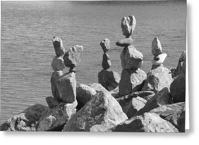 Sausalito Greeting Cards - Rock Pile Greeting Card by Blind Eye Photo