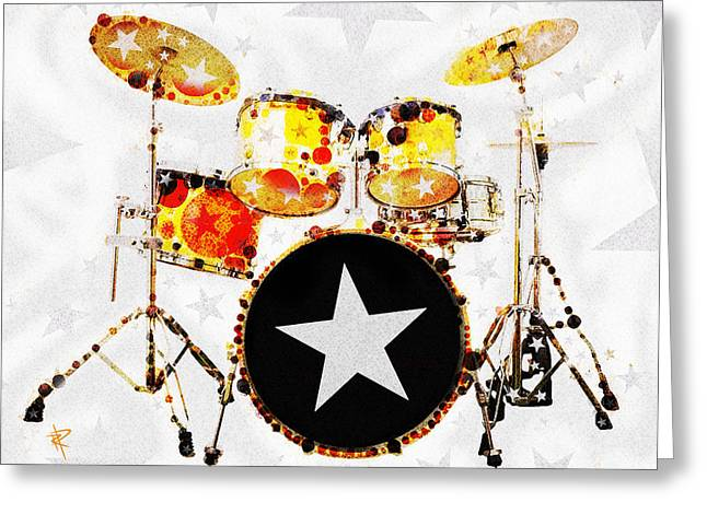 Hi Hat Greeting Cards - Rock Star Greeting Card by Russell Pierce