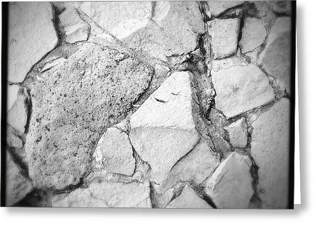 Strength Photographs Greeting Cards - Rock wall Greeting Card by Les Cunliffe