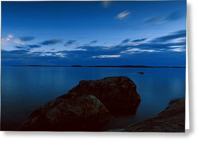 Stones In Water Greeting Cards - Rocks In The Lake, Lake Pielinen Greeting Card by Panoramic Images