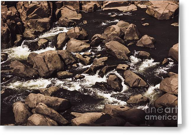 Rocky Launceston River From Cataract Gorge Greeting Card by Jorgo Photography - Wall Art Gallery