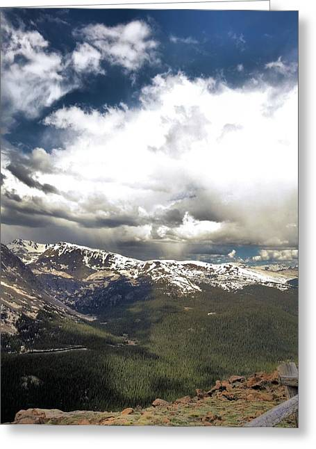 Snow Capped Greeting Cards - Rocky Mountain National Park Greeting Card by Dan Sproul