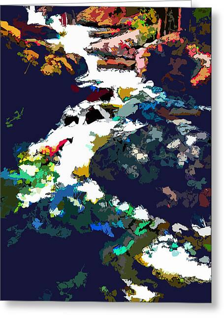 Stream Digital Greeting Cards - Rocky Mountain Stream Greeting Card by John Lautermilch