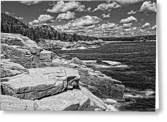 Photographs Digital Art Greeting Cards - Rocky Summer Seascape Acadia National Park Photograph Greeting Card by Keith Webber Jr