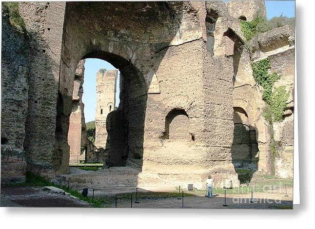 Caracalla Greeting Cards - Roman baths Greeting Card by Ted Pollard