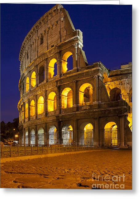 Roman Coliseum Greeting Card by Brian Jannsen